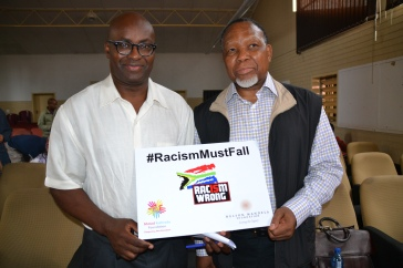 Kathrada Foundation Board members Professor Achille Mbembe and former President Kgalema Motlanthe call for racism to fall.