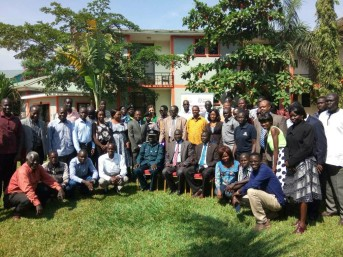 Group photo of participants during a stakeholder's dialogue on safety of journalists in South Sudan in December 2017